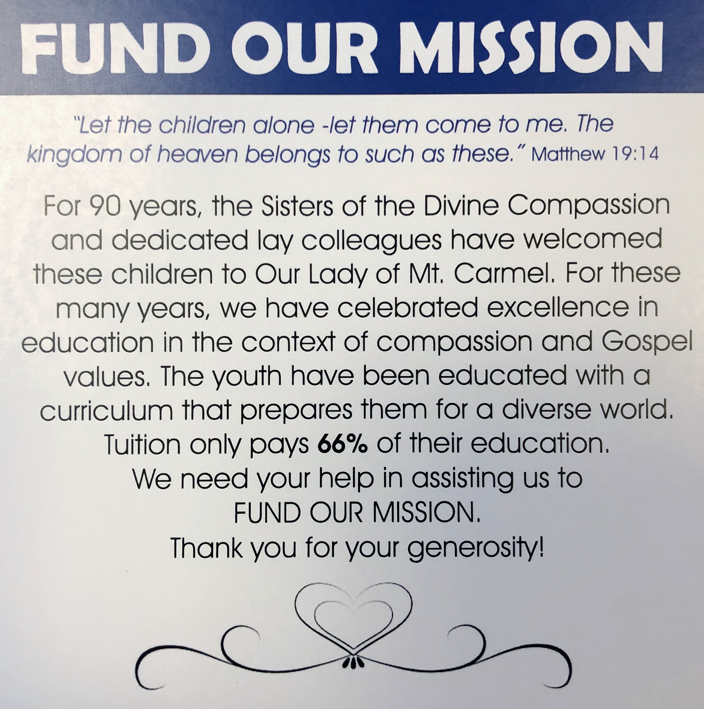 Donate to OLMC School